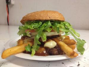 Red's Grill Poutine Burger